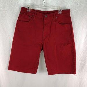 Levi's 569 Red Denim Jean Shorts Loose Straight